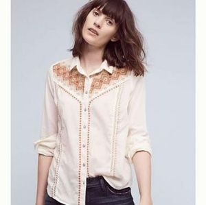Holding Horses Iverie Button Down Top Sz S